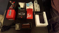 sigelei 150w , Other, Sigelei 150w oni engraved red edition,  charger for batteries, two sets of Samsung ion lithium batteries one set never used. Troll rda.