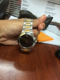 movado watch, Luxury Watch, movado, black and gold