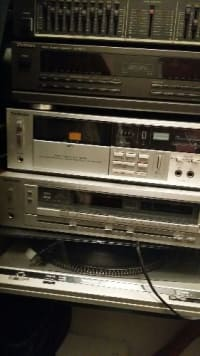 Technics Stereo System, Electronics, Technics, 2000, 4 Piece Rack system with equalizer, receiver, radio, and turntable. Can be used as interchangeable system