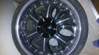 20 inch black rims, Other, Four 20 inch black rims for sale pattern bolts 5