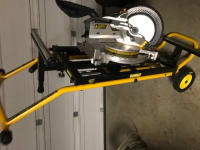 Dewalt 10 in miter saw and a stand that sells separately , Dewalt 10 inch compound miter saw (model number DW713) and a Dewalt rolling miter saw/planner stand ( model DWX726)