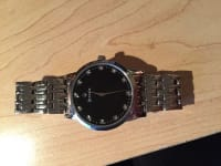 Watch, Luxury Watch, Bulova, Men Watch - Diamonds where numbers are located on the face. Great shape. Barely worn.