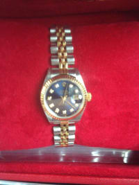 Rolex oyster perpetual , Luxury Watch, Rolex oyster perpetual , Steel with gold and diamonds