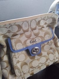 Coach purse, Designer Wear & Handbags, Coach over the shoulder hang bag
