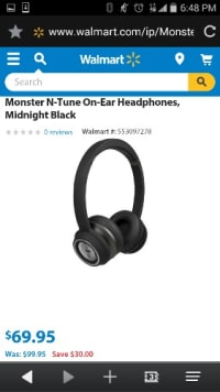 monster n-tune on eat headphones midnight black, Other, these are the general prices & what they look like.  They are in GREAT Condition, they work PERFECT. Very loud and bass