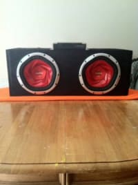 Sony xplod subs,  2 sony xplod 10s with box keenwood amp like new, Like new