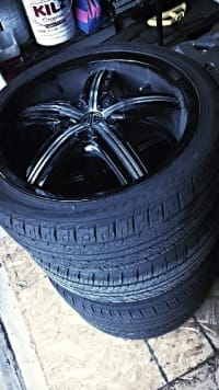 """Rims with tires, Other, Rims with tires, 2crave DC, 18"""","""