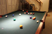 Pool Table, Other, Olhausen Pool Table. Re-felted 3 years ago. Rarely used. Does not include an entire set of pool sticks. Triangle included. Wall mounted pool stick holder included.