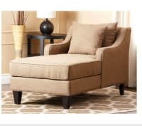 Chaise, sectional, and chair , Other, Chaise is practically brabd new. Chair us actually beige like sectional, not the color in the picture