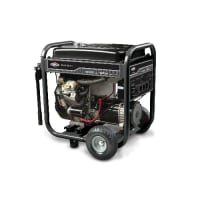 Elite Series 12,500 Watt Gasoline Generator with Electric Start, Tools, Equipment, Constructed with precision, this generator is equipped with a Briggs and Stratton vanguard engine. Its built-in electric start system requires very little effort from the user. For a lasting life and maximum protection, this Briggs and Stratton generator comes equipped with a dura-bore cast iron cylinder sleeve.  Features Dura-bore cast iron cylinder sleeve Effortless electric start Elite Series collection Product Details Engine Type: 4 Cycle Maximum Wattage: 12500 Watts (W) Application: Residential; Commercial Starting Wattage: 12500 Watts (W) Running Wattage: 10000 Watts (W) Run Time at Half Load: 7.5 Hours Tank Capacity: 7 Gallons Maximum Amperage: 30 Amps Starting System: Electric Engine Size: 34.75 Cubic Inches Assembly Required: Yes Fuel Required Fuel Type: Gasoline Outlet or Receptacle Included Number of Outlets: 7