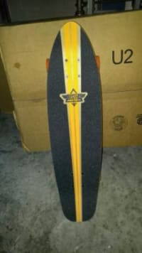 """Dusters Longboard, Other, Dusters Glassy Pinstripe Fiberglass, Dusters Glassy Pinstripe Fiberglass; 29"""" mini cruiser; Dusters 62mm 83a  Wheels; Dusters Ultimate Cruiser Abec 5 Bearings; Slant 4.25"""" trucks; Good condition. $75"""