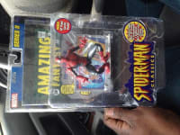 Collectable comic book item, Antique, Collectible, Spider man comic book and toy inside packaging
