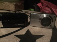 Camcorder and camera , Electronics, Cybershot12.1 megapixels and a Sony camcorder , 2012, Both are in working condition no scratches or broken screens as far as I'm concerned they both workwe just don't use them anymore and I want to get rid of them, N/a