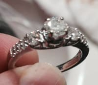 1ct 14kwg Engagement Ring, Engagement Ring weighing 1ct 14k white gold, Like new