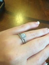 Estate Wedding ring set, Wedding ring set weighing white gold .50 ct.Center Stone and total diamond weight 1 ct.+ like new, Like new