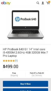 laptop , Electronics, HP.PROBOOK  641 g1, 2013, Never used sat on closet 2 years flawless  gift