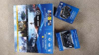 PS 4 StarWars Battlefront Bundle. 500 GB, Electronics, Sony Playstation 4 Star Wars Battlefront Bundle, 2015,  500 GB Playstation 4 System.  1 Dual Shock 4 Wireless Controller.   AC Power Cable. HDMI Cable.  USB2.0 cable.  headset.