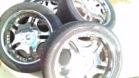 "Rims and tires, Other, 22"" rims , shiny , steel"