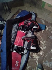 sims snow board, Other, sims snowboard with bindings and boots