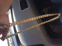 A Chain necklace , Jewelry, 512 grams , It's a big chain necklace 10 karet gold
