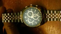watch, Luxury Watch, citizen eco-drive, Linked belt , big face , gold and silver