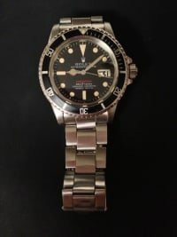 Rolex, Luxury Watch, 1973 Rolex Red Submariner, Rare red submariner. 1973 vintage. no box or papers.