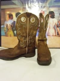 steel toe boots, Other, Western style steel toe work boots; Ariat oil resistant and slip resiatant. Size 14.
