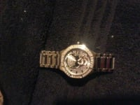 Mark Ecko skull watch, Silver with Diamond mark ecko watch it has skull in the middle.good in condtion., Gently used