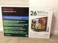Toshiba LCD HDTV, Toshiba LCD HDTV it is 26 inch with  indoor antenna and manual paper.New still in box, New, still in box
