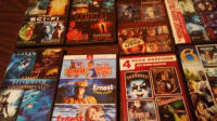 40 DVDS , Horror movies and adventure movies. Some like new and some I have had a awhile but still play well.