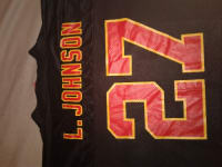 the latest b4e64 45ef8 Sell or buy a used Larry Johnson black and red Chiefs jersey
