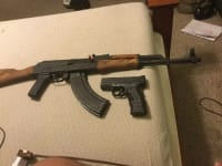 Sell or buy a used Romanian AK 47 and Springfield XD  45 sub