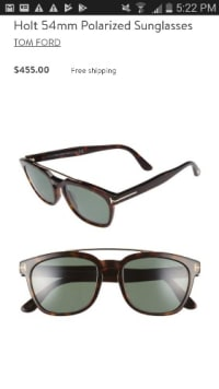 Tom ford mens sunglasses, Holt 55 mms polarize mens sunglasses