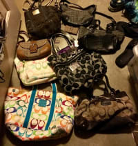 Coach purses, Multiple coach purses. Different sizes