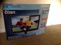 "32 inch Coby TV, COBY 32"" flat screen. No issues. Great condition and comes with remote, Like new"