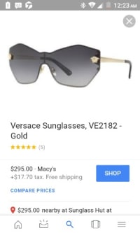 dc08fb80dd48f Sell or buy a used Versace sunglasses mod 2182