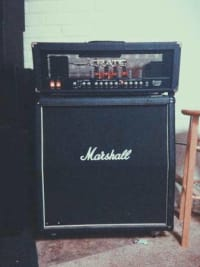 Half-Stack Marshall 1960a cab & Crate Blue Voodoo head - $750,