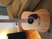 Martin Acoustic Guitar, Martin brand, 6-string, wood finish