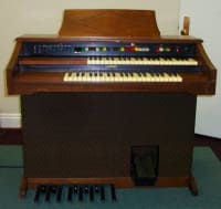 "Lowrey M-125 Organ, Lowrey model M-125 ""Festival with Magic Genie"" Organ. Walnut finish, great condition!, Gently used"