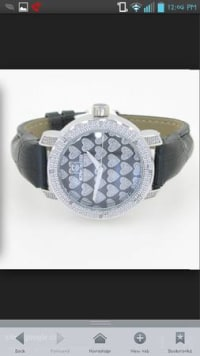 purple super techno watch for women used, Used but in very good condition battery very clean purple all diamonds are in band still together, Gently used