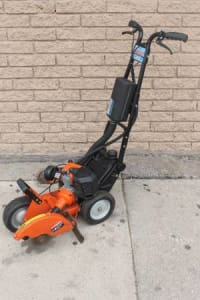 Tanaka TLE-600 50 CC Walk-Behind Edger, TANAKA TLE600 Lawn Edger Shaft-Drive Walk Behind Gas Shaft Type Solid Steel Shaft Length (In.) 6.3 Cutting Width (In.) 3 2 Stroke 50cc Engine 2.5 HP N/A 50cc Engine Displacement Fuel Tank Capacity (Oz.) 87 No Anti Vibration Handle 10 Blade Attachment/Replacement Line. , Like new