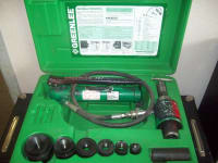 Greenlee Hydrolic Punch Set, Greenlee Hydrolic Punch Set. $645.00. Reference # 154825. , Like new