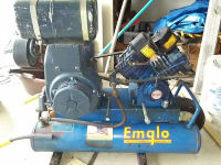 Emglo 8hp 4 lung gas air compressor, 8HP kohler gas engine