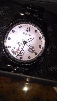 Bulova 96R122 ladies diamond and mother of pearl watch, Bulova 96R122, Heart detailed diamond and mother of pearl automatic watch