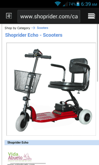 shoprider mobilitity scooter, Red Echo 3, New, still in box