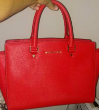 fc0a162339db97 Michael Kors purse, 3 original designer Michael Kors bags. Red, caramel and  light
