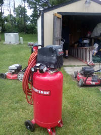 its a air compressor, Its red 26 gallon like new used twice, Like new