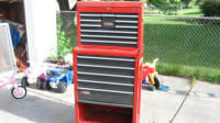 Craftsmen toolchest and toolbox on rollers, Craftsmen toolbox w/Remline toolbox on rollers filled with tools. Ratchets, sockets, screwdrivers,pliers,hex wrenches,hammers,saws,, Gently used