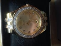 Bulova gold watch- brand new, Brand new gold Bulova diamond watch.no marks or scratches. Works great nothing wrong with it, Like new