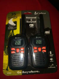 Cobra, Cobra, Waterproof and dustproof walkie talkie up to 35 miles range, Cobra , waterproof and dustproof walkie talkie up to 35 miles range